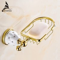 Wholesale finished bathrooms - New Golden Finish Brass Flexible Soap Basket  Soap Dish Soap Holder  Bathroom Accessories,Bathroom Furniture Toilet Vanity 5206