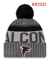 Wholesale Atlanta Caps - wholesale price Falcons knitted Hats Atlanta cap Adult Pom Winter beanies Acceap Mix Order