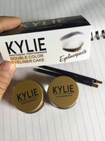 Wholesale Quick Easy Cakes - Factory Direct DHL Free Shipping New Kylie Makeup Eyeliner double color eyeliner cake Gei Eyeliner paste kit
