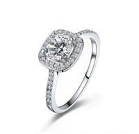 925 anneaux achat en gros de-Top vente 925 Sterling Silver Anneaux De Fête De Mariage avec zircon Bague Fit Costume Femmes Pandora fine bijoux en gros