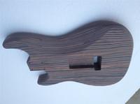 ingrosso più dipingendo uno-Spedizione gratuita un pezzo pezzo Zebrawood corpo chitarra elettrica ST senza pittura hanno più colore può scegliere