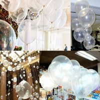 Wholesale Latex Balloon Animals - 1bag Clear Latex Pearl Balloons Transparent Round Balloon Party Wedding Birthday Anniversary Decor 12 inch 1bag=100pcs new