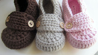 Wholesale Crochet Baby Shoes Loafers - NEW!100% handmade Crochet baby shoes,spring Cotton newborn Loafers  slippers,toddler Shower gift shoes,kids walking shoes!10pairs 20pcs