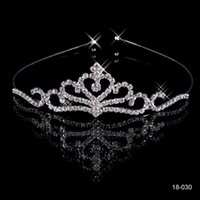 Wholesale bridal tiaras for sale - Cheap Crowns Popular Beautiful Hair Accessories Comb Crystals Rhinestone Bridal Wedding Party Tiara inch inch