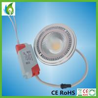 projecteur extérieur 9w achat en gros de-Epistar 5w 7W 9W Spotlight COB LED Spotlight avec G53 GU10 Bases Dimmable Spots pour l'éclairage extérieur OED-AR111-5W
