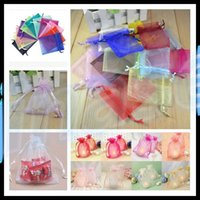 Wholesale Organza Favor Bag 7x9 - Organza Bag Wedding Decoration 7x9 cm Favor Jewelry Packaging Goodie Gifts Pouch Drawing For Party Candy Bag Display