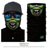 Wholesale Knight Scarf - Halloween 3D Magic Bandanas Death Knight Pirate Scarf Skull Skeleton Ghost Ski Cycling Headwear Headband Motorcycle Neck Bandana 77