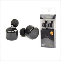 Wholesale True Blue Wholesale - X1T Twins Wireless Bluetooth Headset Double True Wireless Earphones Handfree CSR V4.2 Mini Invisible Headphones With MIC With Package MQ30