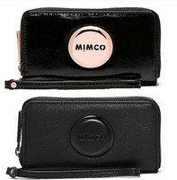 Wholesale Leather Cell Phone Note Holders - Hot Selll The classic MIMCO MIM zip tech purse Women clutch wallet pouch sleek minimalist MIMCO Travel Purse