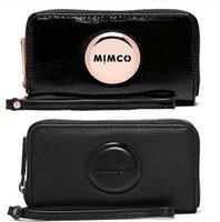 Wholesale Long Purse Zipper - Hot Selll The classic MIMCO MIM zip tech purse Women clutch wallet pouch sleek minimalist MIMCO Travel Purse
