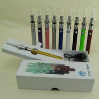 bobines de vaporisateur en verre achat en gros de-Date eGo EVOD batterie Starter Kit avec verre ecigs globle double bobine cire herbe sèche vaporisateur atomiseur réservoir vape stylo boîte mod kits