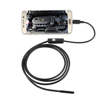 Wholesale Mini Camera Tube - 1M 2M 3.5M 3FT 6FT 10FT Endoscope Borescope USB Android Inspection Camera HD 6 LED 7mm Lens 720P Waterproof Car Endoscopio Tube mini Camera