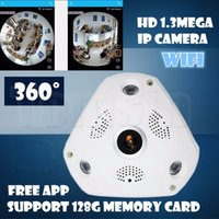 Wholesale Camera Surveillance Ip Wiring - 360 Panoramic Camera 960P VR IP Cam WiFi Fisheye 1.3MP 3D IP Cam Security Night Vision CCTV Surveillance