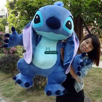 Wholesale Stitch Toy Plush - Dorimytrader 35''   90cm Japan Anime Large Stuffed Soft Plush Cute Giant Cartoon Stitch Toy Doll Nice Kids Gift Free Shipping DY60156