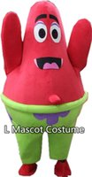 Wholesale Character Patrick - 2016new Patrick Mascot Costume Characters Costume Halloween Kids Party Gift Dress ,Free Shipping