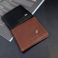 Sacs à main en cuir marron doux Pas Cher-2016 nouveaux hommes de mode des portefeuilles en cuir doux bifold simple style Multi carte titulaire procket Brown court PU Ultrafine mâle Zipper Poucht bourse