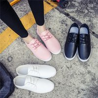 Wholesale Checkered Shoes For Women - Spring New canvas Shoes Woman Fashion Lace Up White Shoes Woman Flats For Lady's Size 35-40 DHL Free shipping