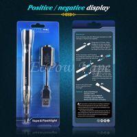 Wholesale Single Mode Led Flashlight - Original E Cigarette Vape Kits UGO Battery Vape Kit With LED Lamp For Vaping Mode Flashlight Mode New Products Promotion