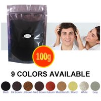 Wholesale Grow Products - 100g refill bag hair building fibers for hair loss thinning growing powder hot sale products black 9 colors ins tock