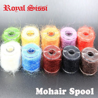 Wholesale Wholesale Fly Tying Materials - 10 spools multi colors long hairy Dubbing Line yarn fibers for nymphal bugs&Scud Sand Worm Total 100M Fly fishing Tying material