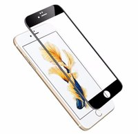 Wholesale Iphone Glass For 3d - 50PCS LOT New Glossy Carbon Fiber 3D Curved Edge Tempered Glass For iPhone 7  7 Plus , 9H Screen Film Screen Protector For iPhone 7 6 6S