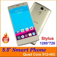 Wholesale M Phones Dual Sim - 5.5 Inch M-Horse Stylus 3G Smartphone SC7731 Quad Core Android 5.1 1280*720 Mobile Phone 512 8GB Dual Camera SIM Unlocked Free with case