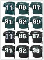 Wholesale Browning Eagle - Men's Philadelphia football Jersey Eagles 4XL 55 Brandon Graham 86 Zach Ertz 87 Brent Celek 91 Fletcher Cox 92 Reggie White 99 Jerome Brown