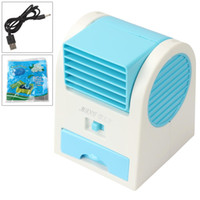 Wholesale Small Battery Usb - High Quality Creative USB small fan micro no leaf fan portable battery refrigeration mini air conditioning fan students