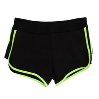 Wholesale Wholesale Beach Pants For Women - Wholesale-Women Girls Yoga Shorts Hot Bilayer Running Shorts for Gym Beach Sports