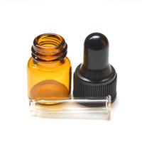 Wholesale perfume sample vials resale online - 1 Dram Pure Glass Dropper Bottle Essential Oil Glass Bottle Perfume Sample Tubes ml Amber Vials