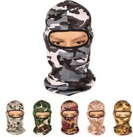Wholesale Helmet Camo - 2016 New Outdoor Balaclava Masks Camo Windproof Cycling Mask Outdoors Mask Helmets Quick-Drying Outdoor Riding Masks