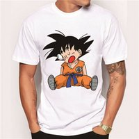 Wholesale Super Hipster Men - Wholesale-2016 Men's Fashion Japan Anime Dragon Ball Z T Shirt Super Saiyan Printed shirt Vegeta Son Goku Tee Hipster Hot Tops