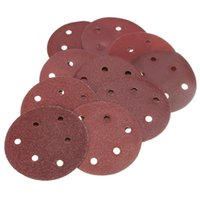 Wholesale Sand Abrasives - 50pcs 125mm Abrasive Sand Discs Sanding Paper 6 Holes Sanding Discs 40-800 Grit Sandpapers