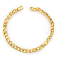 ingrosso bracciale figaro oro per uomo-NAKELULU Bracciale in acciaio inossidabile di colore nero / oro per i monili degli uomini Commercio all'ingrosso 5MM Bracciale a catena lunga di tendenza Figaro