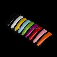 Wholesale E Cig New Design - Hot Special Design New long flat e cig Bambom drip tip curved 510 drip tips mouthpieces for pipe