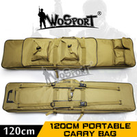 "Wholesale gun case bag rifle - Wholesale- 011802 47"" inch 120 cm 1.2m SWAT Tactical Heavy Duty Large Capacity Bag Carrying Case for Rifle Gun Hunting Fishing shooting"