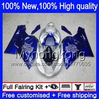 Wholesale fairing agusta - Body Bodywork For MV Agusta F4 05 06 R312 750S 1000 R 750 1000CC 13Y19 1000R 312 1078 1+1 MA MV F4 2005 2006 05 06 Blue silvery Fairing