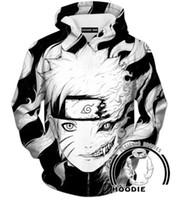 Wholesale Naruto Belts - Newest Fashion Women men's 3D Print Uchiha Clan Symbol Naruto Hoodies hooded sweatshirts