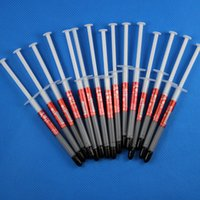 Wholesale Thermal Grease Paste Compound Cpu - Lot 100 Pcs 1g CPU GPU Thermal Paste Heatsink Compound Silver Grease Tube Silicone Gray Syringe RROD Repair
