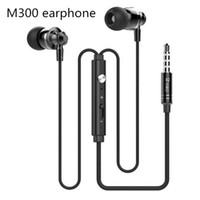 Extrabass power in ear Définition 3.5mm Plug Metal Headphone Headset Langston M300 Metal Earphone avec micro iphone 6 Samsung MP3 Cellphone