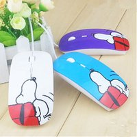 Factory Supply Fashion Wired Designer USB Mouse Cartoon Snoopy Mice Avec Pad cadeau pour ordinateur PC Laptop Desktop