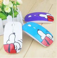 настольная мышь оптовых-Фабрика питания мода проводной дизайнер USB мышь мультфильм Snoopy мыши с Подарок Pad для компьютера PC ноутбук Desktop