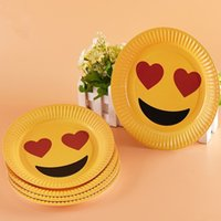 Wholesale Wholesale Kids Party Tableware - High quality Paper Tableware Dining Plates Kids Birthday Paper Tableware Dining Plates Party Decor Colours IC691