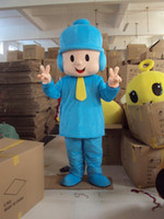 Wholesale Music Boy Mascot - New Arrival Adult Size Pocoyo Boy Costume Character Cartoon Mascot Outfits