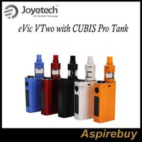 Wholesale evic head - Joyetech eVic VTwo with CUBIS Pro Tank Kit 80W eVic VTwo Box Mod with 4ML Cubis Pro Atomizer QCS Head and LVC Head Preinstall 100% Original