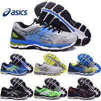 Wholesale Cheap Shoe Laces Free Shipping - Asics Gel-Nimbus 17 XVII Men Running Shoes Top Quality Cheap Training Hot Sale Walking Outdoor Sport Shoes Free Shipping Size 7-10