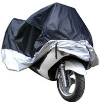 Wholesale Waterproof Motorcycle Cover L - Big Size Universal Car Motorcycle Cover Waterproof Dustproof Scooter Covers UV Snow Resistant PEVA Heavy Racing Bike Cover