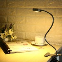 Energy-Efficient LED Clamp Lamp Luz de leitura Flexible LED Book Table Desk Lamp Clip On Night Light Bed Room Bulb Warm White