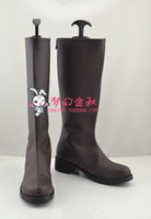 Wholesale Fairy Costume Shoes - Wholesale-FAIRY TAIL Jellal Fernandes Cosplay Boots shoes shoe boot #NC816 Halloween Christmas