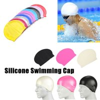 Wholesale 500pcs Food Grade Flexible Silicone Swimming Cap Keep Your Long Hair Healthy Clean While Swimming Fits Kids Men Women